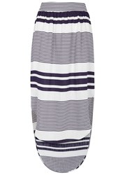 Finders Keepers Mason Striped Gauze Skirt Blue And White