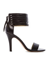Twelfth St. By Cynthia Vincent Callie Woven Leather Lace Sandal Black