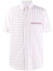 Thom Browne Seersucker University Stripe Button Down Shirt 60