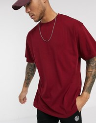Soul Star Organic Cotton Oversized T Shirt Red