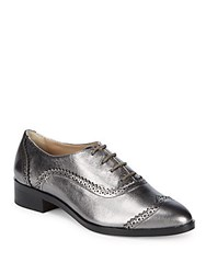Saks Fifth Avenue Brody Leather Wingtip Oxfords Gunmetal
