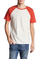 Lucky Brand Short Sleeve Raglan Baseball Tee Multi