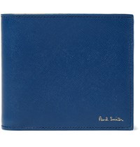 Paul Smith Saffiano Leather Billfold Wallet Navy