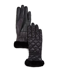 Ugg Quilted Tech Gloves Black