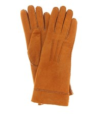 Isabel Marant Shearling Gloves Brown