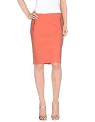 Vdp Collection Skirts Knee Length Skirts Women Salmon Pink
