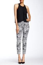 Insight Printed Techno Faux Fly Pant Brown