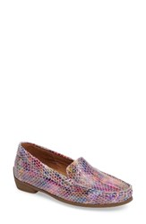 Ara Women's Barb Flat Pink Multi Leather