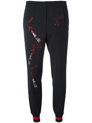 Philipp Plein Loose Fit Track Pants Black