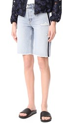 Siwy Memphis Relaxed Denim Bermuda Shorts Smoky Factory Blues