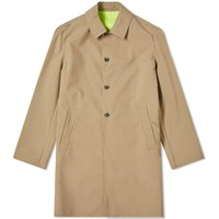 Kenzo Neon Taping Rain Coat Brown