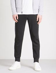 Michael Kors Tape Trim Tapered Cotton Jersey Jogging Bottoms Black