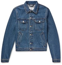 Ami Alexandre Mattiussi Slim Fit Denim Jacket Blue