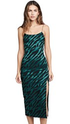 Bec And Bridge Discotheque Midi Dress Emerald Zebra