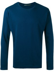 Issey Miyake Crew Neck Top Men Cotton 5 Blue