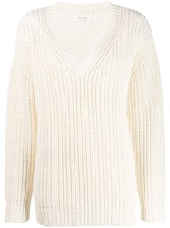 Chinti And Parker V Neck Jumper Neutrals