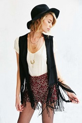 Blanknyc Friday Fever Fringe Vest Black