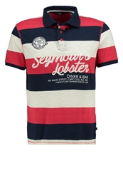 Tom Tailor Fitted Polo Shirt Sun Bleached Red Light Red