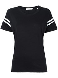 Rag And Bone Striped Sleeves T Shirt Black