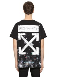 Off White Galaxy Arrows Cotton Jersey T Shirt