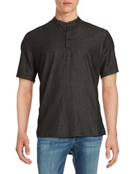 Laboratory Lt Man Chambray Short Sleeve Shirt Black