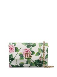 Dolce And Gabbana Multicoloured Floral Leather Clutch Bag 60