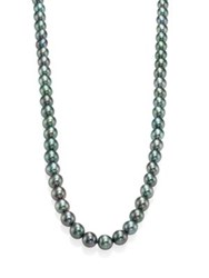 Mikimoto 8.5Mm Purple Cultured Akoya Pearl And 18K White Gold Long Strand Necklace Multi