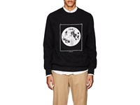 Ovadia And Sons Moon Graphic Cotton Blend Sweatshirt Black