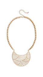 Jules Smith Designs Chunky Chain Crescent Bib Necklace Gold