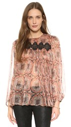Zimmermann Empire Filigree Blouse Ochre Konya