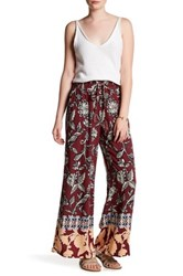 Angie Tie Waist Soft Pant Red