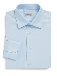 Brioni Poplin Dress Shirt Light Blue