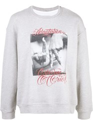 Adaptation Crew Neck Printed Sweatshirt Grey