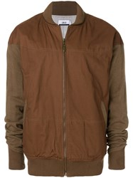 Publish Two Tone Bomber Jacket Brown