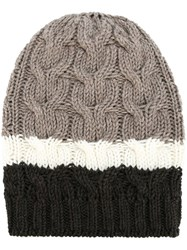 P.A.R.O.S.H. Striped Beanie Brown