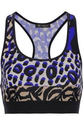 Versace Printed Stretch Sports Bra Animal Print