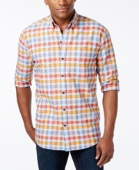 Cutter And Buck Men's Big And Tall Eclipse Check Long Sleeve Shirt Multi