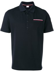 Moncler Gamme Bleu Chest Pocket Polo Shirt Blue