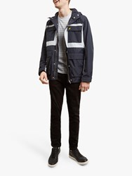 Lyle And Scott Colour Block Jacket Dark Navy