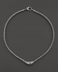 Lagos Sterling Silver Embrace Diamond Station Rope Necklace 16