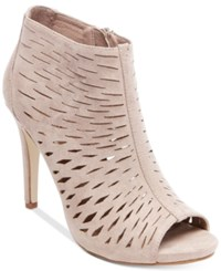 Madden Girl Rockella Perforated Dress Booties Women's Shoes Taupe