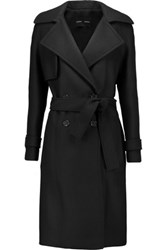Proenza Schouler Double Breasted Wool Blend Coat Black