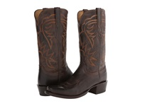 Lucchese Hl1503.73 Chocolate Burnished Cowboy Boots Brown