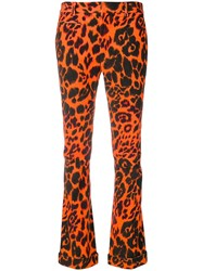 R 13 R13 Leopard Print Trousers Yellow And Orange