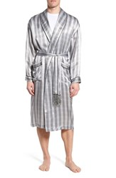 Majestic International Silk Robe Black Black Piping
