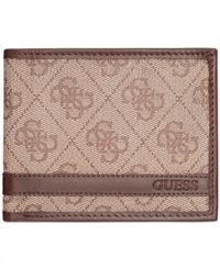 Guess Tobias Double Billfold Wallet Brown