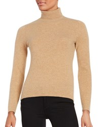 Lord And Taylor Turtleneck Cashmere Sweater Classic Camel Heather