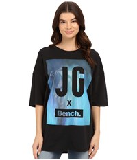Bench Keep Laughing Short Sleeve Top Jet Black Women's Short Sleeve Pullover