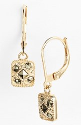 Judith Jack Square Drop Earrings