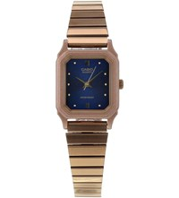 Casio Lq 400R 2Aef Rose Gold Toned Stainless Steel Watch